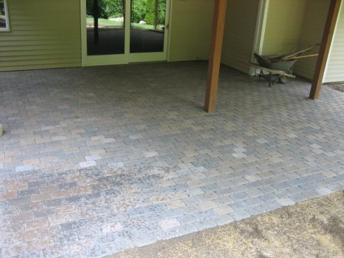 paver patio after